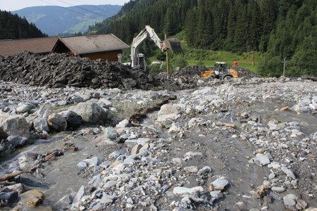 rauris: Landslide, mudslide in Rauris, Salzburg after raining. Austria, Europe