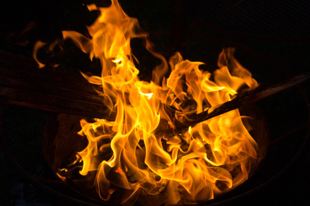 hellfire: Fire flames on black background, hellfire.