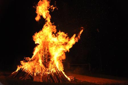 flammable: hot dangerous fire
