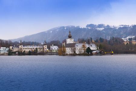 Traunsee castle schloss orth, Gmunden, Upper Austria  Traunstein, austria Sajtókép