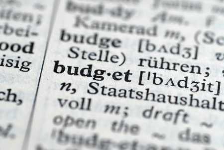 Translation of the word and meaning of Budget Reklamní fotografie