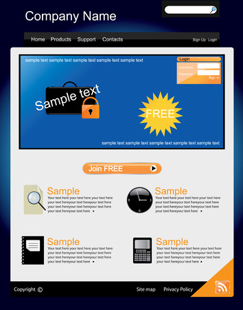 Web site interface v.15 Vector