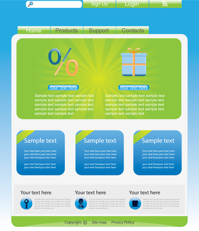 Web site interface v.17 Vector