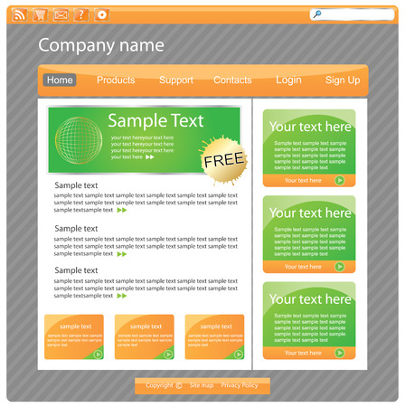 Web site interface v.20 Vector