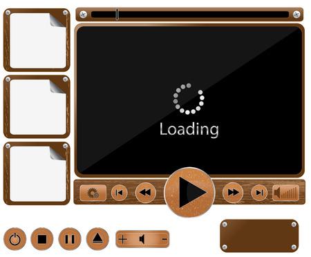 Vector media interface template Vector