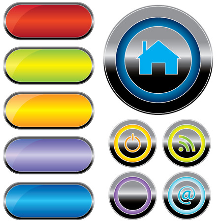 buttons for web (vector) Vector