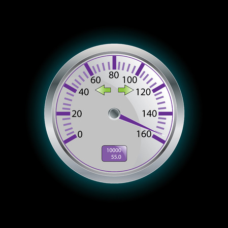 mile: vector speedometer