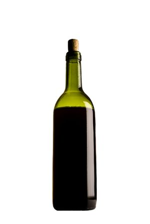 closed corks: Red wine bottle on a isolated background