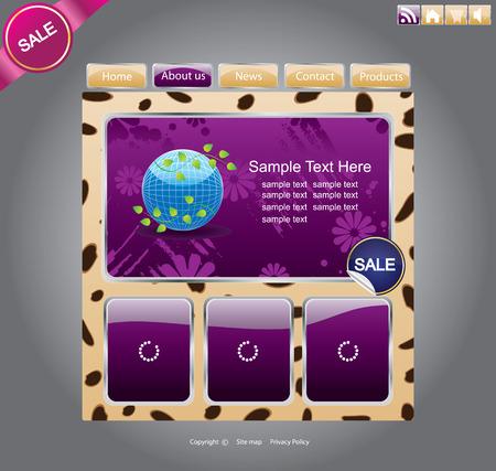 Web site template design Vector