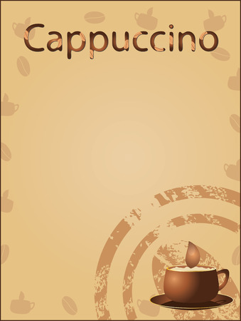 Coffee background (vector) Vector