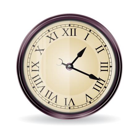 wall clock: vintage   wall clock Illustration