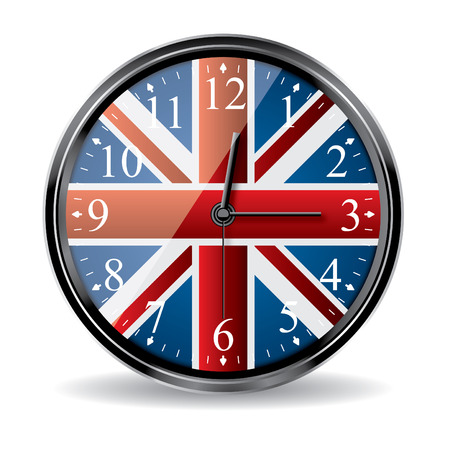 british clock Stock Vector - 7865012