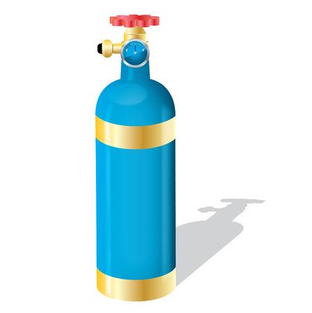 zuurstof: Gas fles