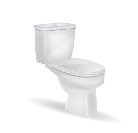 bowel: Toilet on a isolated background