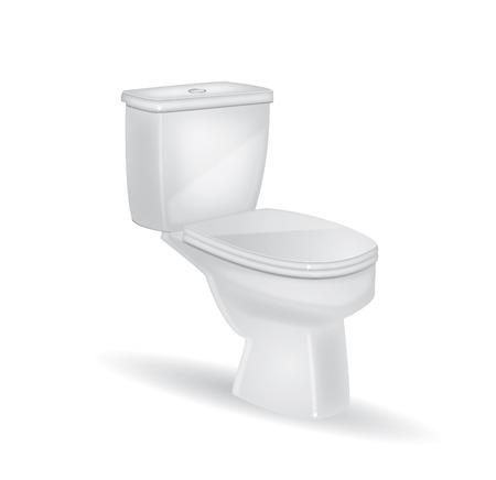 bowel: WC su uno sfondo isolato
