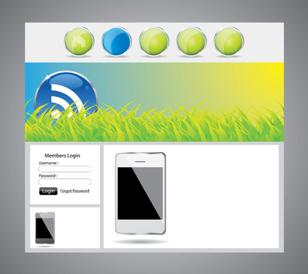 Web site template design  Vector