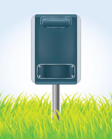 Mail box on a green grass,vector Vector