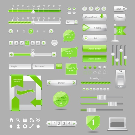 Web elements design,vector   Illustration