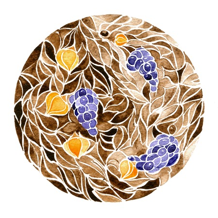 braiding: floral pattern Stock Photo
