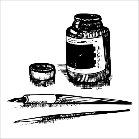 draw well: Stationery ink Illustration