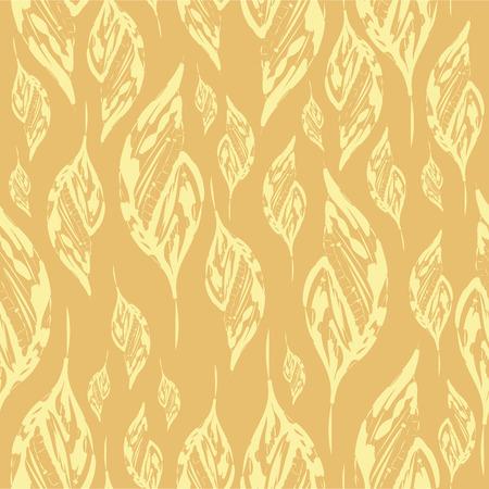 subtlety: leaves beige pattern