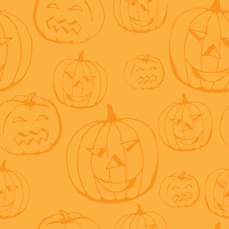 orange pattern: Halloween orange pattern with pumpkin