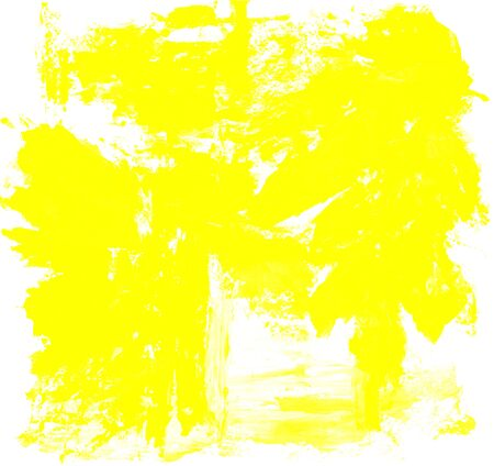 abstract yellow watercolor splash background. art by painted image