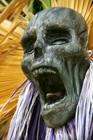 port aventura: Inca mummy in the park Port Aventura, Spain Stock Photo