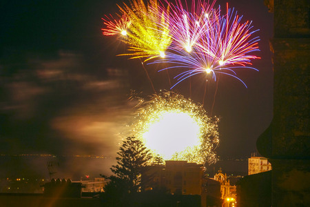 Fireworks of Mount Carmel Feast in Acireale