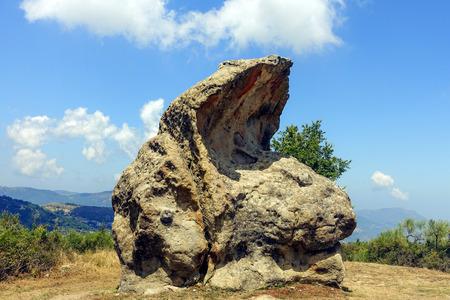 Argimusco megaliths of Montalbano Elicona Stock Photo