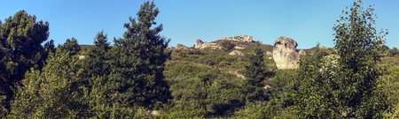 megaliths: Panoramic photo of the megaliths of Argimusco in Montalbano Elicona