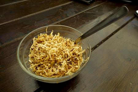 queso rayado: taza de queso rallado