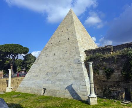 Pyramid in Rome Editorial