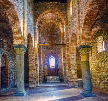 saints peter and paul: The Basilica of Saints Peter and Paul in Agrò - inside view Editorial