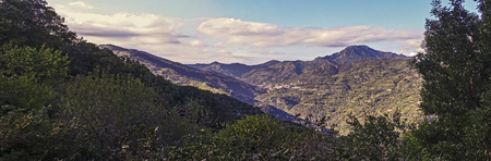 enchantment: panoramic photo of Peloritani mountains - dellagrò Valley