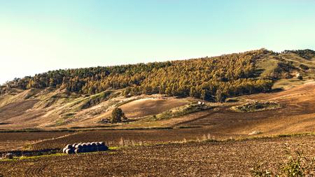 hinterland: panorama of the Sicilian hinterland Stock Photo