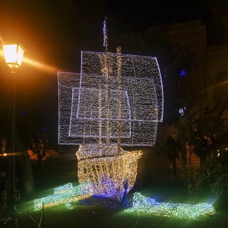 Galleon of lights