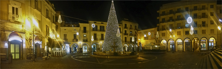 local supply: Scacciaventi village and the big Christmas tree in Cava de Tirreni panoramic photos