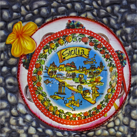 papiermache: murals: memories of Sicily Stock Photo