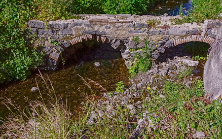 the bridge over the brook country