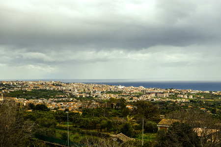 Panoramic photo of Aci of the valley - detail of Acireale