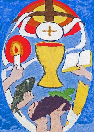 gospels: Symbol of the Eucharist Stock Photo