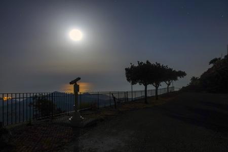 Scrutinize the moonlight heuristic Stock Photo