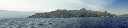Overview of the Amalfi Coast Stock Photo
