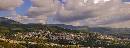 Panoramic photo of Celico Stock Photo