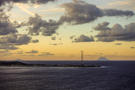 The Aeolian Islands glimpsed the Straits of Messina