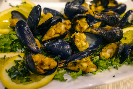 peppered mussels au gratin 79