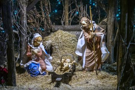 Nativity, scene of a nativity scene
