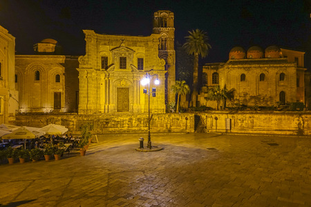 Postcard of Palermo by night