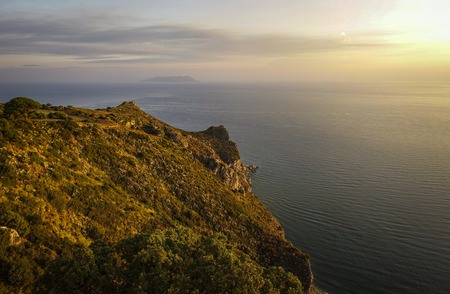 sunrise on the Tyrrhenian coast of Sicily - 247 Banco de Imagens